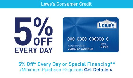 Apply & Manage Lowe's Consumer Credit Card line